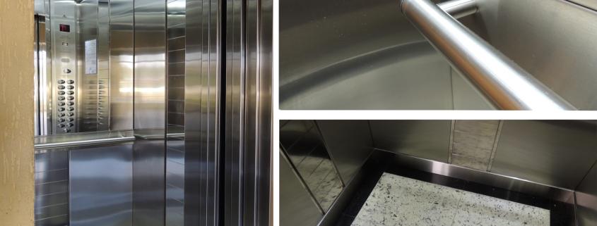 modernização da cabina do elevador