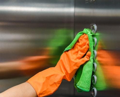 como limpar elevador de inox